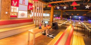 acoustic floating floors for a bowling alley